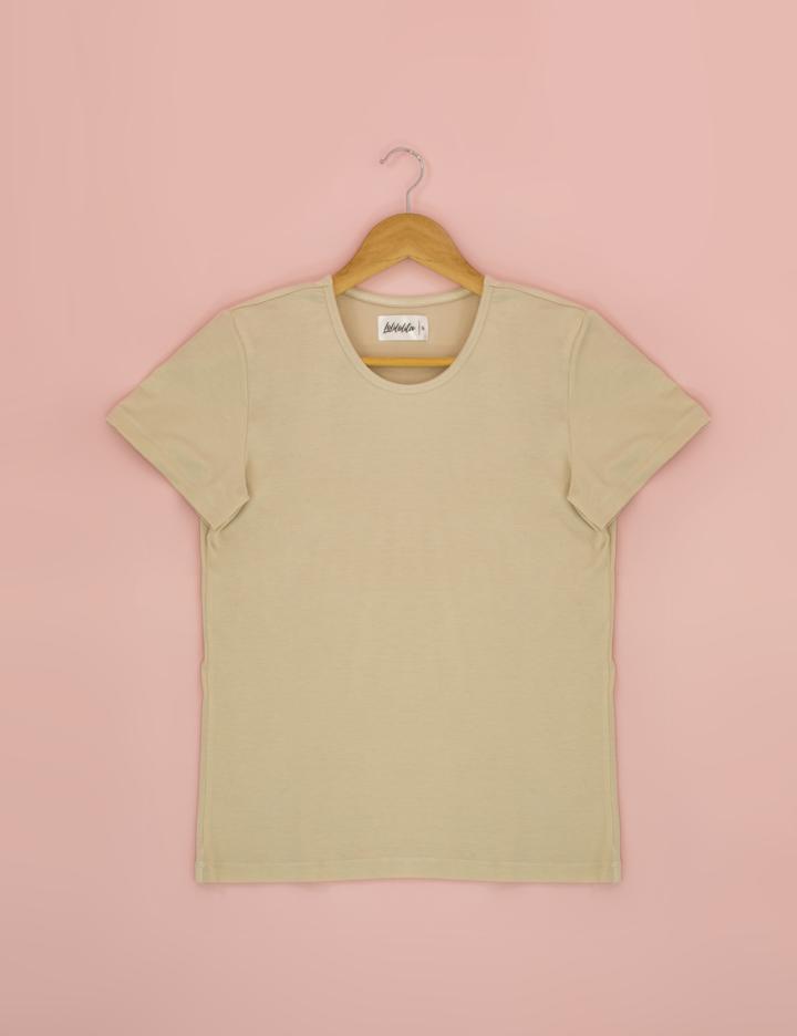 t shirt basica beige