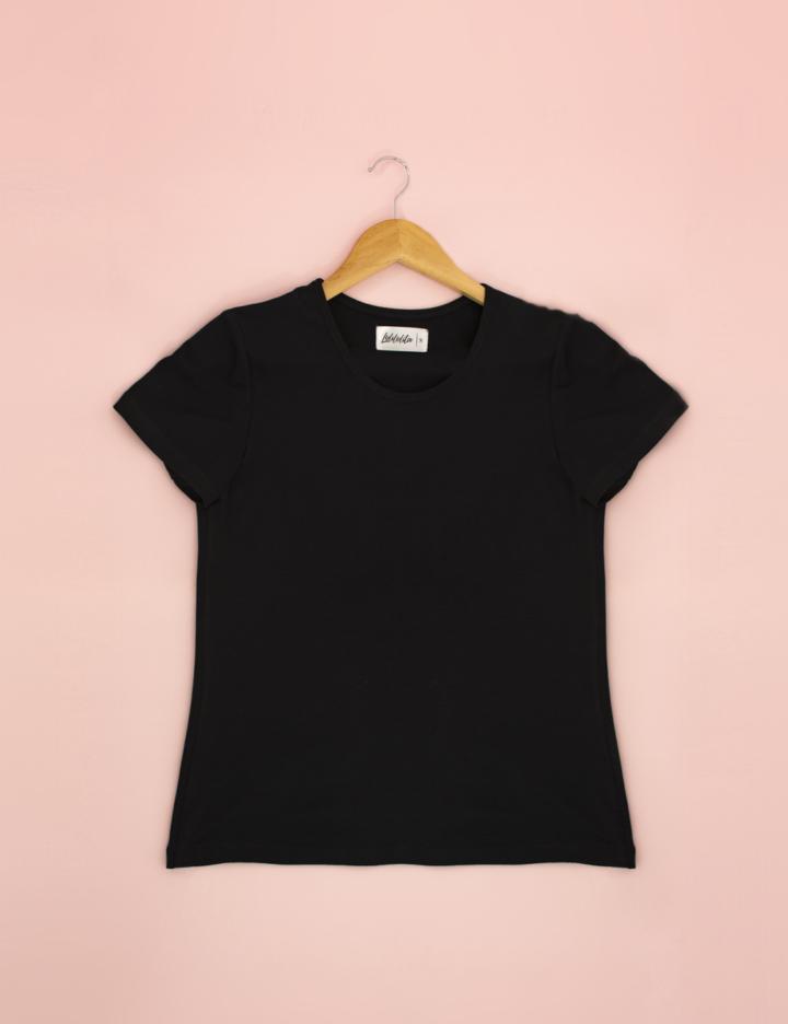 t shirt basica negra